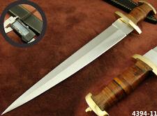 "ALISTAR 15.5"" CUSTOM HANDMADE DOUBLE EDGE SWISS DAGGER HUNTING KNIFE (4394-11"