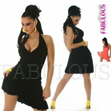 Polyester Summer/Beach Asymmetrical Hem Solid Dresses for Women