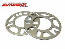 Quality 5mm Universal Alloy Spacer Shims 4/5 Stud PAIR (299)