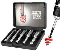 5pc Broken Damaged Screw Extractor Removal Remover Garage Workshop Tool Bit Set