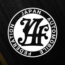 Japan Automobile Federation JDM Sticker Retro Tuner Drift Vinyl Decal