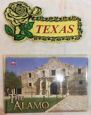 Vintage Alamo Rose Texas Fridge Magnets