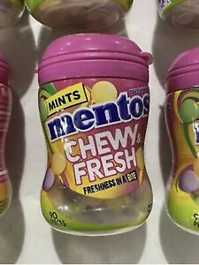 12 Mentos Chewy & Fresh Breath Mints Candy Mixed Fruit 90 Count Each BBD 02/2022
