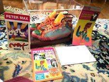 PETER MAX Men's sneakers 1970 HAND SIGNED SUPER RARE HI TOP RANDY COOL ORIGINAL!
