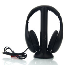 LOT2 5 in 1 Wireless Headset Headphone +Transmitter + Audio Cable For PC/TV/MP3
