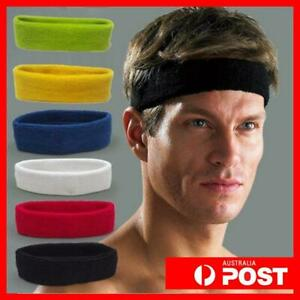 Headband Sports Yoga Gym Stretch CottonArmband Girls Womens Mens Head Hair Bands