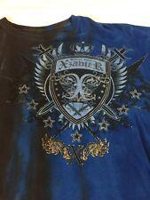 Mens Xzavier Blue And Black Mma T Shirt Short Sleeve L