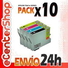 10 Cartuchos T0611 T0612 T0613 T0614 NON-OEM Epson Stylus DX4850 Plus 24H
