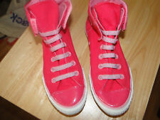 Unusual Pink sparkle  Ladies Converse All Star High Top Trainers Size 4.5 easy