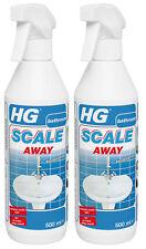 HG bagno Calcare Remover schiuma detergente spray scala di distanza 500ml Twin Pack