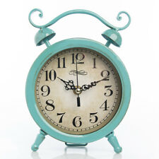 Better Homes & Gardens Vintage-Style Metal Table Clock Classic Double Bell Look