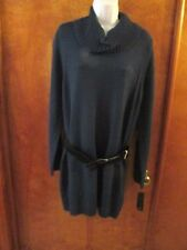 "Ladies ""ABStudio"" Size M, Teal, Belted, Cowl Neck, Sweater"