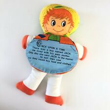 Vintage DanDee Double Storybook Cloth Doll Plush Pinnochio Jack & The Beanstalk