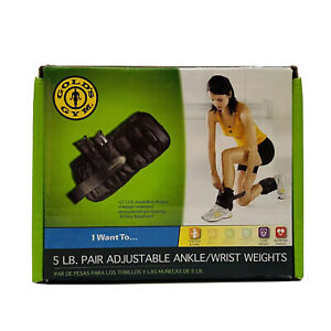 Gold's Gym 5 LB Pair Adjustable Ankle / Wrist Weights * Please Read*