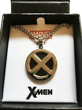 "Marvel Comics XMEN LOGO CHARM NECKLACE Stainless Steel 24"" Chain Jewelry Cosplay"