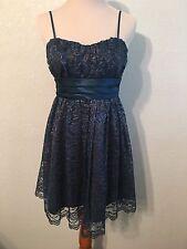 Trixxi Formal Spaghetti Strap Short Lace Dress Size 5 NWT