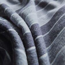 Azul Jaspeado Denim Rayas Elástico Sencillo Jersey Tejido - se vende por metros
