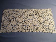 Panneau dentelle ancienne (1900) guipure Schiffli 40 cm x 19 cm