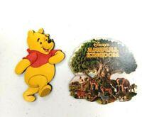 Disney World Rubber Winnie Pooh Wooden Animal Kingdom 2006 Laser Cut 3D Magnet