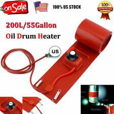 55 Gallon 1000W Silicon Band Drum Heater Oil Biodiesel Metal Barrel 200L