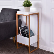 Side End Table Accent Table Storage Night Stand Display Shelf Bins Drawer Living