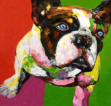 Original painting - PITBULL  Jill Williamson - Huge 132x132 cm