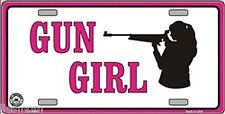 Gun Girl Novelty License Plate Auto Tag Sign