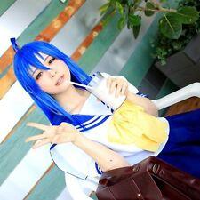 Lucky☆Star Izumi Konata Blue 100cm Long Straight Party Hair Full Cosplay Wig
