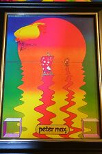 PETER MAX TITLE-A BEAUTIFUL SUMMER DAY-  PRINT 5X7 FRAMED