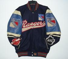 Size 4XL New York Rangers Wool Body & Distressed Leather  Sleeves Jacket XXXXL