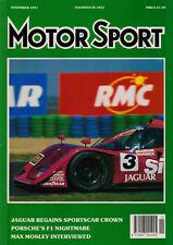Motor Sport Nov 1991 - Portugese GP, SWC Magny Cours Jaguar, BTCC, HSCC Silverst