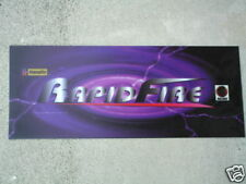 """new"" Rapid Fire Gun Game original Arcade Game Marquee Sign"
