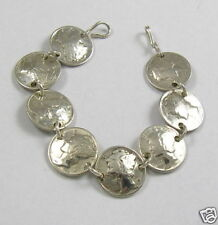 Beautiful, Circulated Winged Head Mercury Dime Coins, Link Bracelet