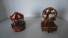 SET OF MINI CARNIVAL MUSIC BOXES
