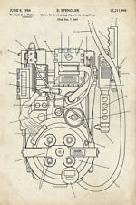 1984 Ghostbusters Egon Spengler's Proton Pack Patent Office Poster/Print