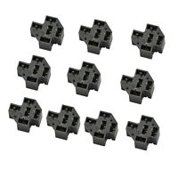 10 Pack  PCB Relay Socket 40A 5Pin Connector PC Board Mount Micro Terminals SPDT