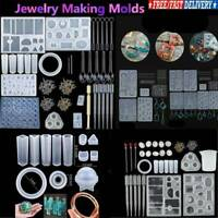 Resin Casting Molds Silicone Mold DIY Jewelry Pendant Mould Making Crafts Kit UK