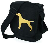 Hungarian Vizsla Bag Metallic Gold Dog Black Shoulder Bags Handbag Mothers Day