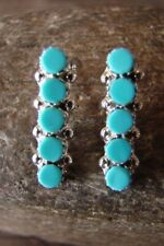 Native American Jewelry Sterling Silver Turquoise  Earrings! Zuni Indian