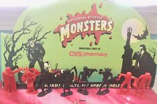 MPC MONSTERS SET OF 8 RED & BLACK FROM THE MONSTER CHECKER SET VINTAGE HTF