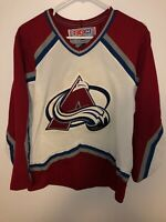 Vintage Colorado Avalanche CCM NHL Hockey Jersey Size Small Men's White Red