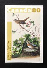 Canada #2040 Die Cut MNH, John Audubon's Birds - Lincoln's Sparrow Stamp 2004
