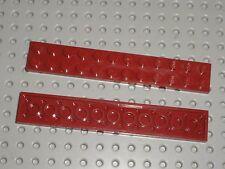 2 x LEGO DkRed Plate 2x12 ref 2445 / Set 70009 7665 8019 9467 10232 10241 75039