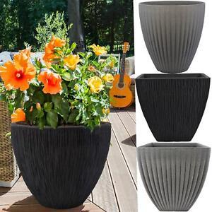 Garden Large Plastic Flower Planter Indoor Outdoor Patio Plant Pot