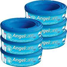 6 x Angelcare Windel Entsorgung System Nachfüllung Kassetten Wrapper Schlafsäcke