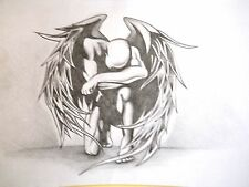 """MALE FIGURE DRAWING...""""GRIEVING ANGEL """"......9 X 12 IN. PENCIL"""