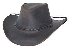 Bullhide Hilltop Leather Cowboy Hat, Color Browm