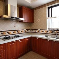 Gold Foil Wall Tile Stickers Kitchen Waist Line Floor Tile Decals Waterproof