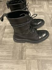 Christian Dior Homme Navigate Black Heidi Slimane Boots 40.5 Fits 8.5 US