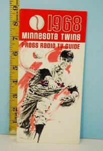 1968 Minnesota Twins Baseball Press TV Radio Guide Schedule